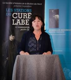 Mme Monique Monette Laroche, mairesse de Sainte-Anne-des-lacs et présidente du comité culturel de la MRC des Pays-d'en-Haut